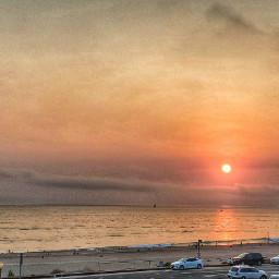 socal playadelrey beach sunset clouds red smoky picoftheday palmtree