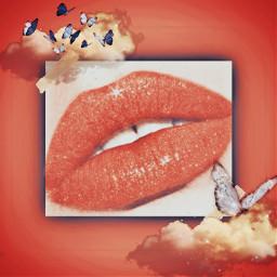 freetoedit aesthetic aestheticedit aestheticsticker love lips lipgloss red redvelvet redaesthetic srcetherealbutterflies etherealbutterflies
