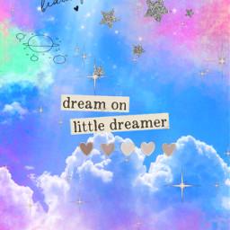 secondome dream dreamer nuvole stelle cuori sky ciao