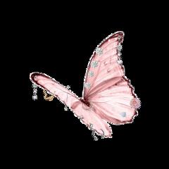 freetoedit butterfly pink animal piercing aesthetic alternative punk cute kawaii pastelgoth soft pale pastel softgrunge grunge egirl princess kidcore traumacore