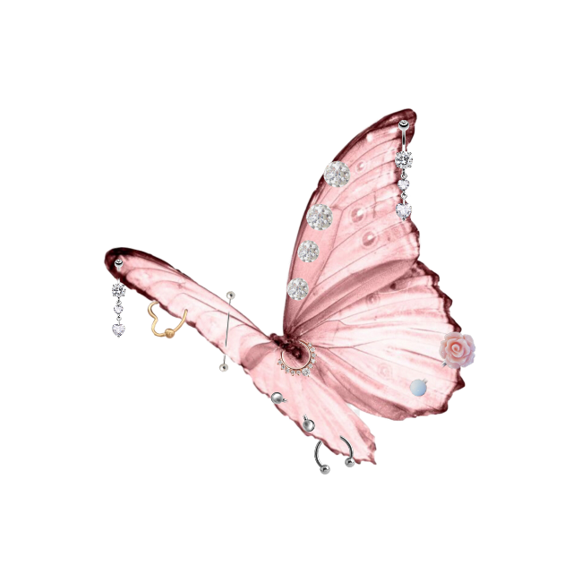 #freetoedit #butterfly #pink #animal #pink #piercing #aesthetic #alternative #punk #cute #kawaii #pastelgoth #soft #pale #pastel #softgrunge #grunge #egirl #princess #kidcore #traumacore