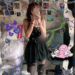 goth style skirt alternative chains edgy edit gothic lolita y2k mallgoth babygoth cool outfit ootd cybergoth emo pastelgoth mirror glitchcore sanrio kuromi aesthetic freetoedit