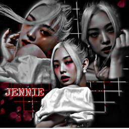 freetoedit jennie blackpink howyoulikethat dark rad