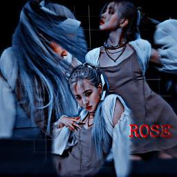 freetoedit blackpink rose howyoulikethat dark blue