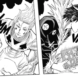 freetoedit hisoka chrollo hisokamorow chrollolucilfer hxh hunterxhunter manga fight anime