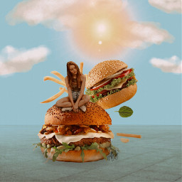 freetoedit food gigante hamburguesa comida fantasy ecgiantfood giantfood