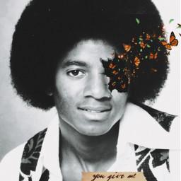 freetoedit butterflies mariposas michaeljackson afro youngmichaeljackson 70s rcbreakthroughportrait breakthroughportrait