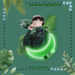 freetoedit yup_sup babypanda choisan san ilovesannie aesthetic green greenaesthetic mylove ateez ateezsan atiny