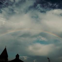 myphoto photography photograph photographer photooftheday rainbow sky wonderful clouds background viral hd rainbowlight summer live lockscreen freetoedit