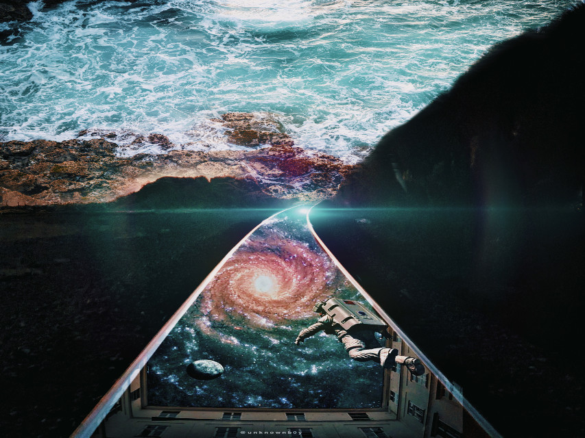 #surreal #water #outerspace #earth #blend #unreal #universe #galaxy #beach #mountain #mystery #wanderlust #imagination