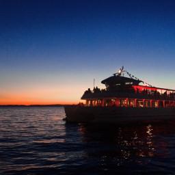 balaton siofok lake sunset boat