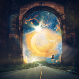 surrealisticworld interesting naturelovers imagination adventure moon universe roadtrips travel tree nature woods fun tunnel freetoedit