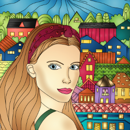 incolor fantasy art coloringbooks sweetdreams girl colorful