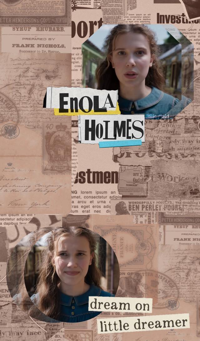 #enolaholmes #milliebobbybrown #milliebobbybrownedit #strangerthings #wallpaper #aesthetic #sherlockholmes #holmes #netflix #art #millie #florencebymills