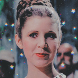 leiaorgana carriefisher cute aesthetic overlay picsart leiaskywalker star starwars