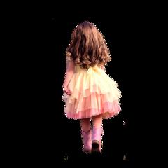 freetoedit child walking back girl