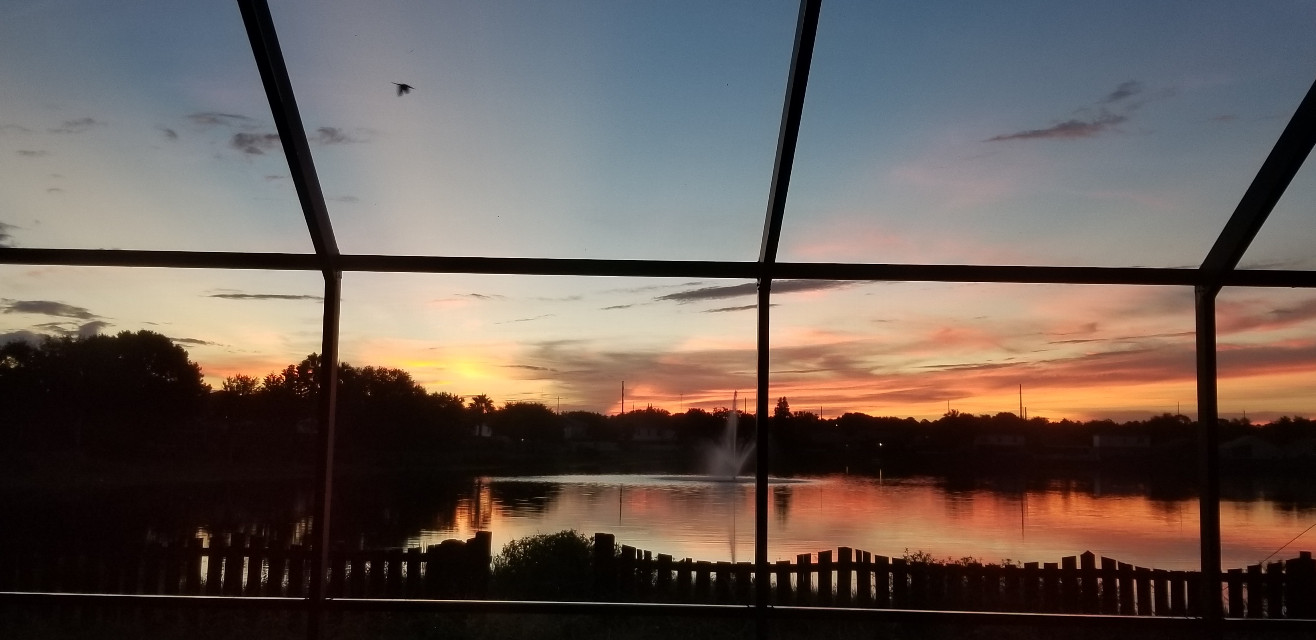 #photography #nature #naturephotography #water #lake #view #landscape #houses #distance #sky #clouds #blue #myphoto #morning #reflection #outdoors #sunrise #yellow #orange #blue #beautiful #pink #colorful #bright