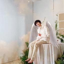 angel hyungwon monstax monstaxhyungwon monbebe monstaxedit kpop aesthetic soft heaven art hyungwonmonstax freetoedit