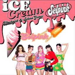 icecream selpink slenagomez blackpink freetoedit