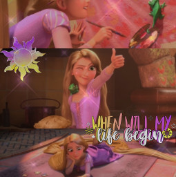 freetoedit tangled rapunzel pascal whenwillmylifebegin disney princess corona sun glitter purple tower