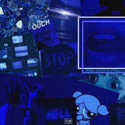 aesthetic vibes blue darkblue wallpaper background vintage freetoedit