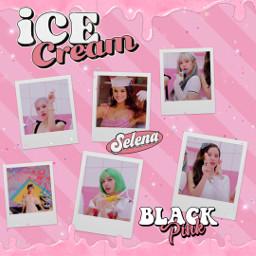 girl aesthetic tumblr dripping icecream selpink selenagomez blackpink helado freetoedit