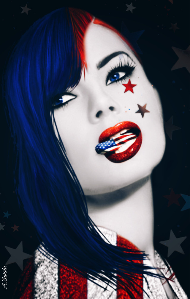 Good night my friends!!!#myedit #artisticportrait #redwhiteandblue #undefined #remixit #byme #emotions #expression #iloveamerica