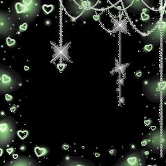 green greenaesthetic lime limegreen shiny necklace overlay chain hearts greenheart greenoverlay