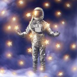 astronaut stars ftestickers galaxy picsarteffects magicbrush madewithpicsart freetoedit