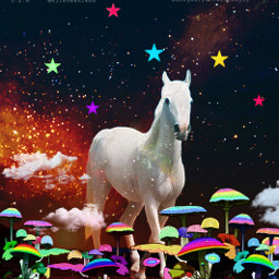 mastershoutout mushrooms art artwork interesting horse edit madewithpicsart heypicsart glitter colors colorful like love follow freetoedit