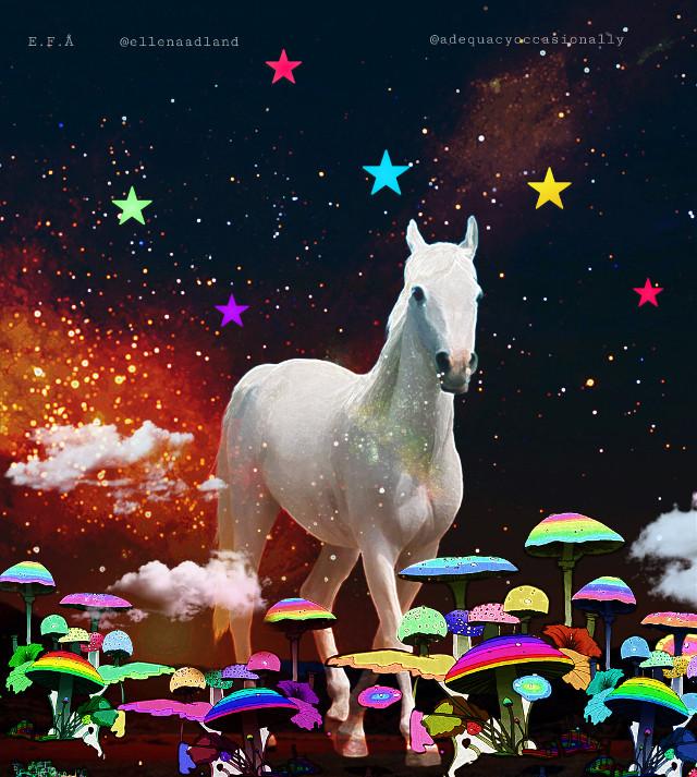 #mastershoutout to @adequacyoccasionally ! I love how cool & amazing your art is 🤩   #mushrooms #art #artwork #interesting #horse #edit #art #interesting #madewithpicsart #heypicsart #glitter #colors #colorful #like #love #follow
