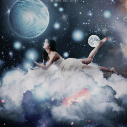 freetoedit clouds dreamy girl nightsky blue papicks heypicsart be_creative madwithpicsart stayinspired createfromhome picsartedit myedit space galaxy galaxyedit magic magical surreal surrealism visualart visualartist planet