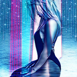 galaxymagiceffect blureffect sparkle blue freetoedit