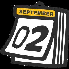 calendar sticker 02 2 two september freetoedit