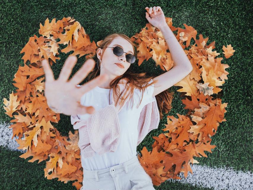 #листья #сентябрь #осень #пиксарт #девушка #picsart #leaves #autumn #girl