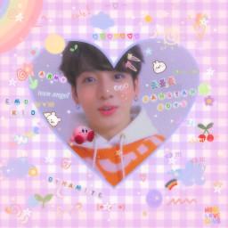 happy bts messy soft cute kidcore softcore dynamite btsedit happybirthdayjungkook kpop lovecore rainbow purple loveu