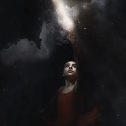 freetoedit surreal surrealism space galaxy stars hope blackbackground cosmical moon nebula fantasy