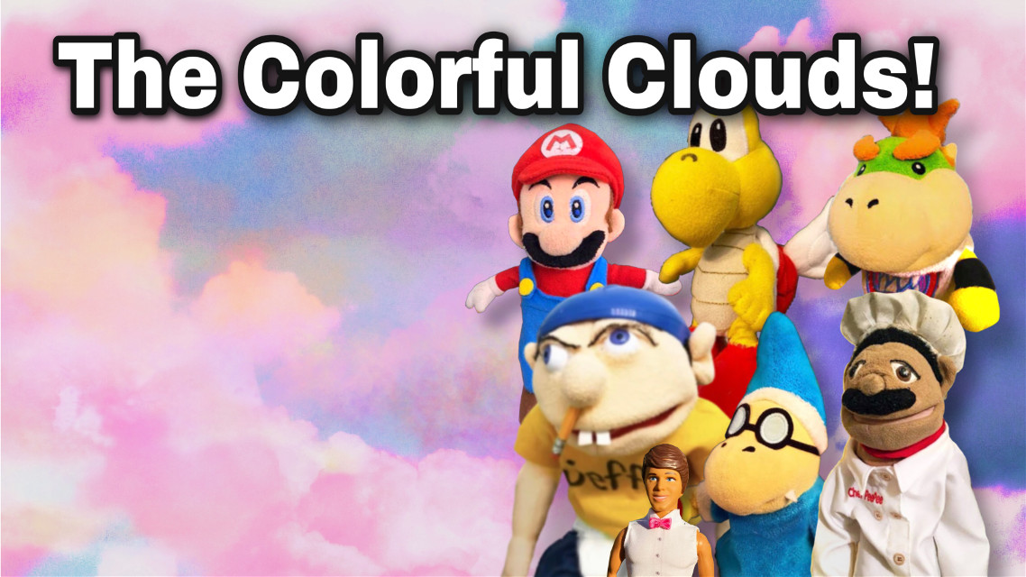 """#clouds #sml #supermariologan Remember """"The Pink Clouds!"""" and """"The Orange Clouds!"""" yeah (ps. The text is covering Joseph's eyes"""""""