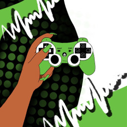 freetoedit illustration picsartpicks gaming gamer colorpop colorsplash controller