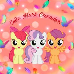 freetoedit applebloom sweetiebelle cutiemarkcrusaders cute scootaloo