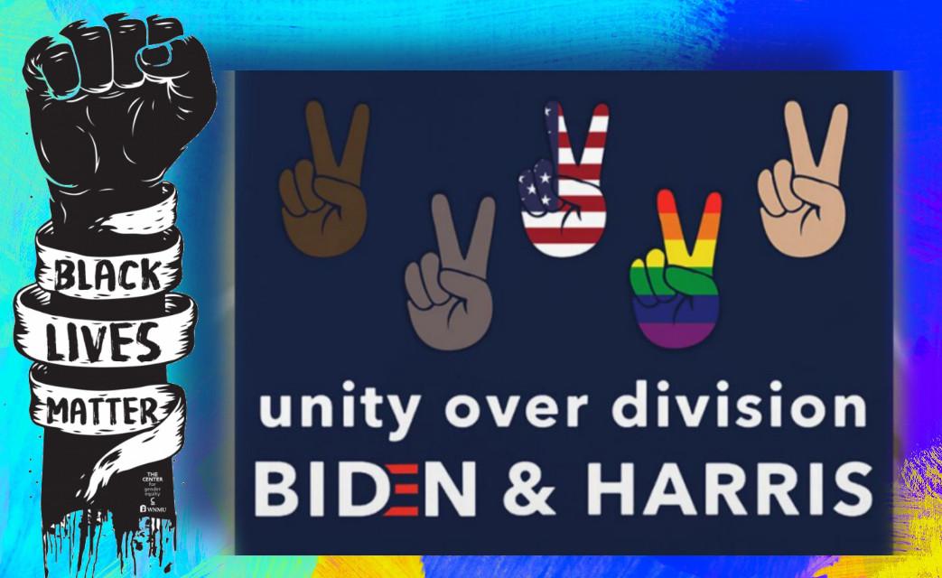 #unityoverdivision #bidenharris #blm #blacklivesmatter #voteplease