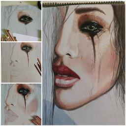 drawing newpost portrait women colorful stepbystepdrawing artwork art artist colorpencilartwork beautiful