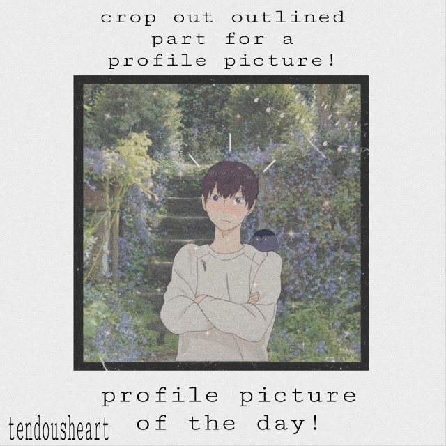 #profile #picture #day #border #words #anime #aesthetic #art #aestheticart #blue #dark #black #kageyama #haikyu #haikyuedits #backgrounds #lights #wallpaper #cutout #cutoutoutline #profilepic #cottagecore #bird #kageyamabird #darkblue..hey!..this is todays profile picture of the day!...thank you so much for 140+ thats so crazzyyyy guys omg! and you guys have been really sweet and nice!...if YOU have a request pls dm me or comment! feel free to say whatever! just no inappropriate things pls!...and please do not steal my art and post it on your page saying its yours! again thank you so much for everything!!
