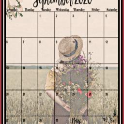 flowers girl field september september2020 endofsummer hat pretty calender freetoedit ircinthefield inthefield