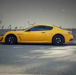 freetoedit sportscar yellowcar maserati yellow coloraccent myphotography photographyversion