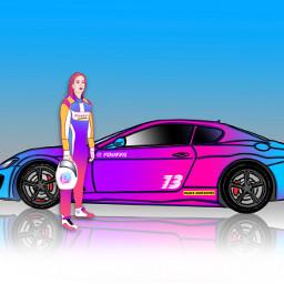 paintedversion outline coloredversion picsartmobile sportscar