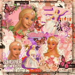 swan swanlake swanqueen odette barbie barbiemovie pink freetoedit