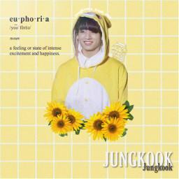 jungkook edit kpopedit bts jungkookedit kpop yellow bananamilk euphoria sunflowers flower rabbit bunny yellowaesthetic aesthetic itried jungkooks_trash_can freetoedit