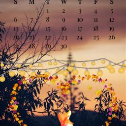 september september2020 septembercalendar fox leaves fairylights srcseptembercalendar freetoedit