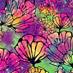 freetoedit glitter sparkles galaxy flowers floral pattern nature sky stars colorful design hipster aesthetic background overlay